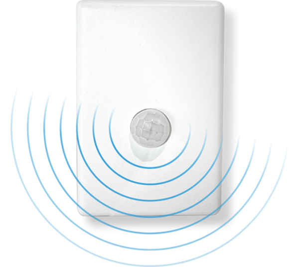 Motion sensor detects person to automatically turn on aircon