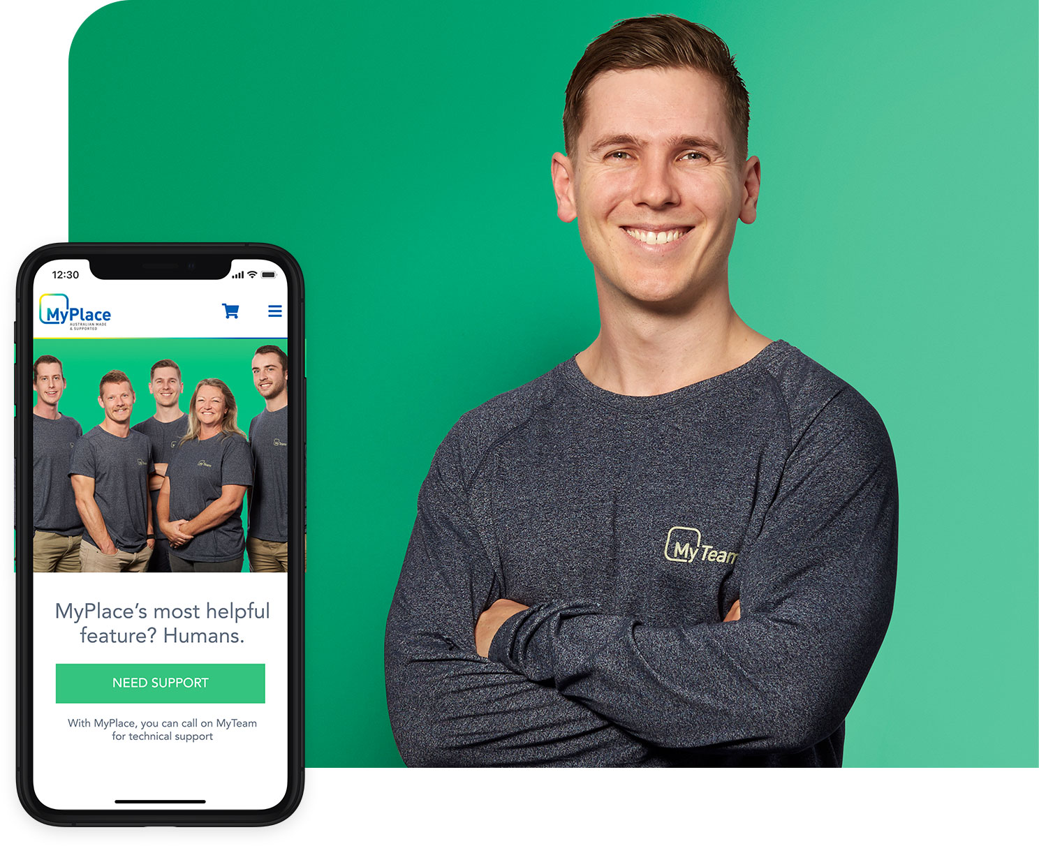The MyPlace app and The MyAir team